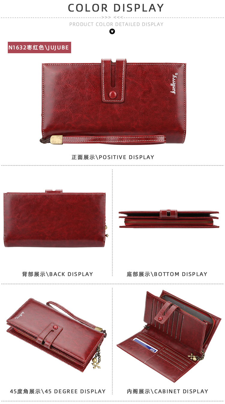 PU Leather Purse Female Long Wallet For Women Coin Purse Card Holders