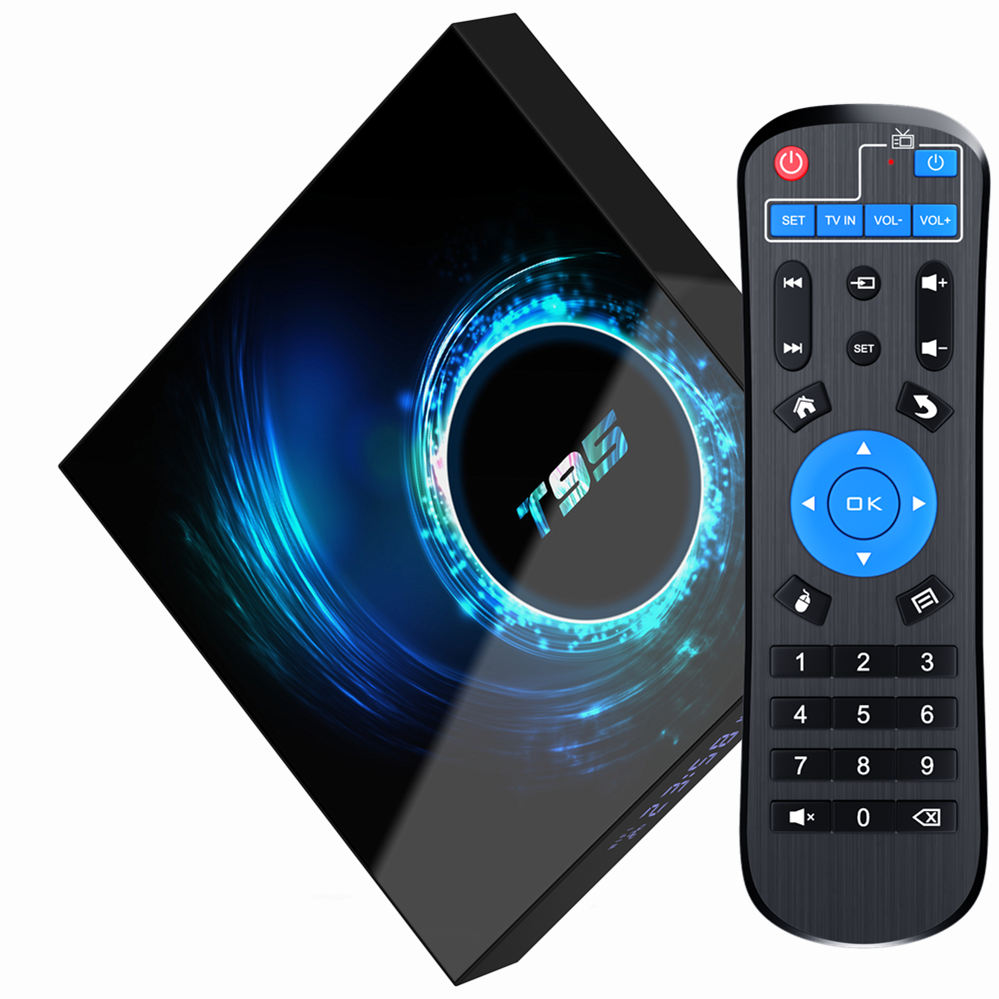 T95 H616 Android 10.0 Smart TV Box H616 2.4G Wifi Android 4K HDR 2GB RAM 16GB 32GB 64GB ROM Set-top Box Media Player