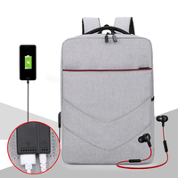 Hot sale USB charing earphone hole Business Daily Use Unisex waterproof laptop backpack bag