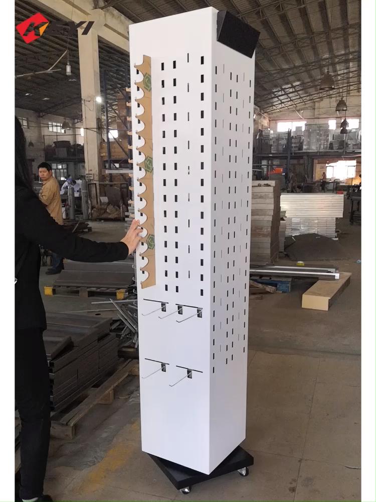 Cina Produttore Piano Personalizzato In Piedi In Metallo Pegboard Rotante Cremagliera Occhiali/Occhiali Da Sole Display Stand
