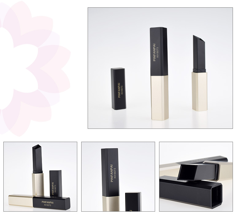 eco friendly empty packaging square lipstick tube manufacturers for sale