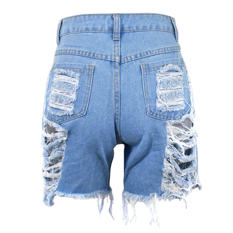 0070124 Newest design 4 colors fashion tassel hole Summer Women Female Bottoms Ladies Trousers Denim Shorts ripped Jeans Pants