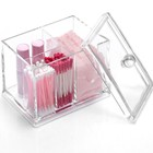 Chinese wholesale good quality transparent Cosmetic cotton storage box