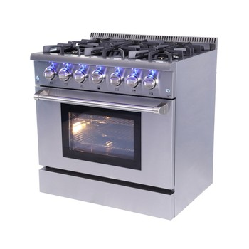 Hyxion 4 burner gas stove with oven price 36 inch gas range stove cooktops with oven