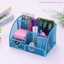 Многофункциональная металлическая сетка для стола, органайзер, держатель для ручек, контейнер для хранения канцелярских принадлежностей, ...(Китай)