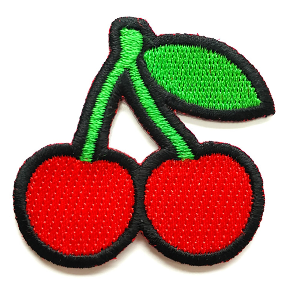 Custom Iron On Cherry Patches Cloth Background Patches Sew On Embroidery Patches