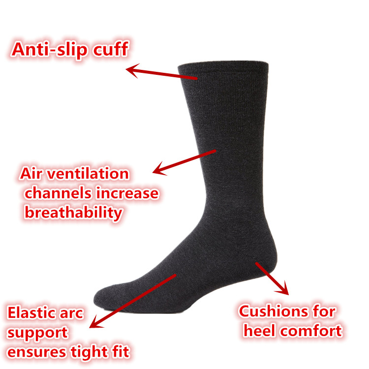 YUEMAI Factory Direct Custom Cotton Terry Cushioned Compression Anti-Bacterial Breathable Sport Army Military Winter Thick Socks