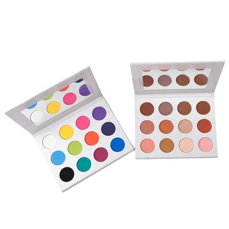 12 Color Wholesale High Pigment Custom Makeup Private Label Eyeshadow Palette