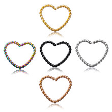 4 шт., кольцо для носа, пирсинг, кликер, клипсы, серьги-кольца для женщин, нержавеющая сталь, Поддельные втулки, Helix Ear Tragus Jewelry 16G(China)
