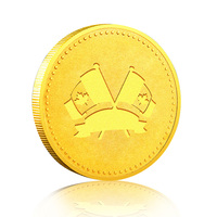 Made In China Custom Personalized Metal Soft Enamel Epoxy Gold Plated Canadian Maple Leaf Coins