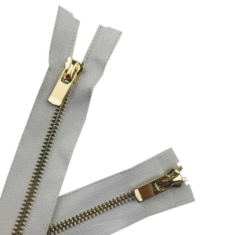 wholesale zipper endless #5 two way metal zipper special glod corn teeth metal separable zipper