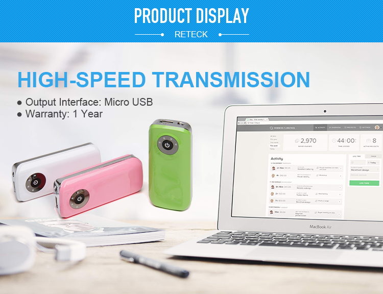 Shenzhen Wholesale USA free shipping OEM External Universal Portable phone charger power bank 4400mah