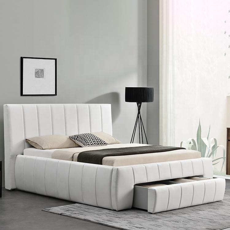 1238d Modern European Lit King Double Size With Drawer Storage Pu Faux  Leather Bed - Buy Storage Bed With Drawer,Lit King Double Size Bed,Pu Faux  ...