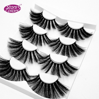 Fashion luxury 100% 3D 20mm 25mm real mink fur lashes wholesale natural false mink eyelashes full strip lashes
