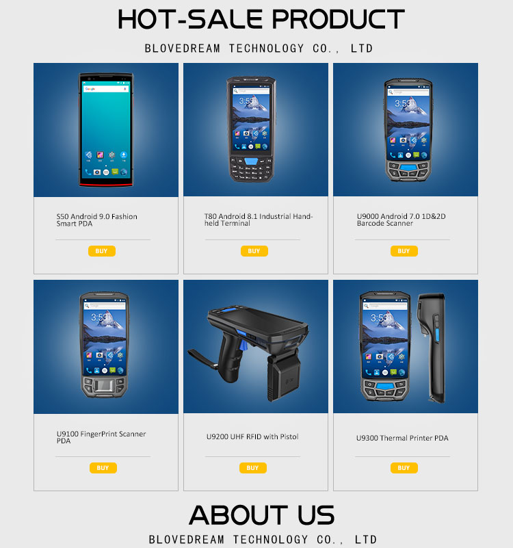 Manufacturer Mobile Phone 4G Android Lecom S50 Inventory Barcode Scanner Pocket PC RFID Scanner Wholesale Phones