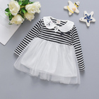 1year baby clothes frocks lace stripe girls angel piece party wear dress