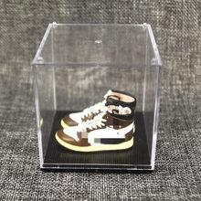 Необычный креативный брелок для ключей, 3d стерео Баскетбольная обувь, модель автомобиля, брелок для ключей, подарок на Рождество (2 шт.)(Китай)