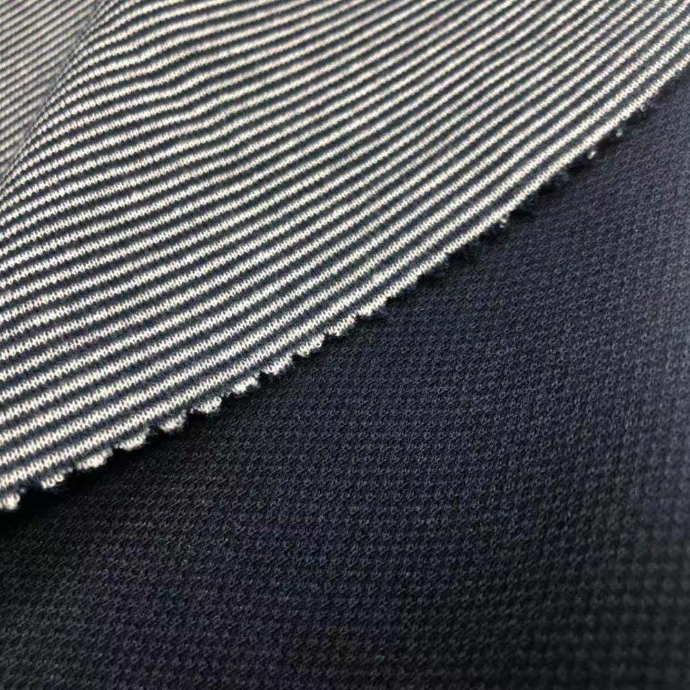 Double face twill cotton polyester blend knit fabric