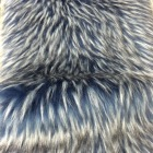 Long Pile Luxury Raccoon Fur With Black Tip High Density Faux Fur Fabric