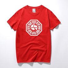 Американская ТВ-серия LOST Dharma Initiative, футболка для фитнеса, хлопковая футболка с коротким рукавом, футболки, топы, футболки, Camisetas Masculinas(Китай)