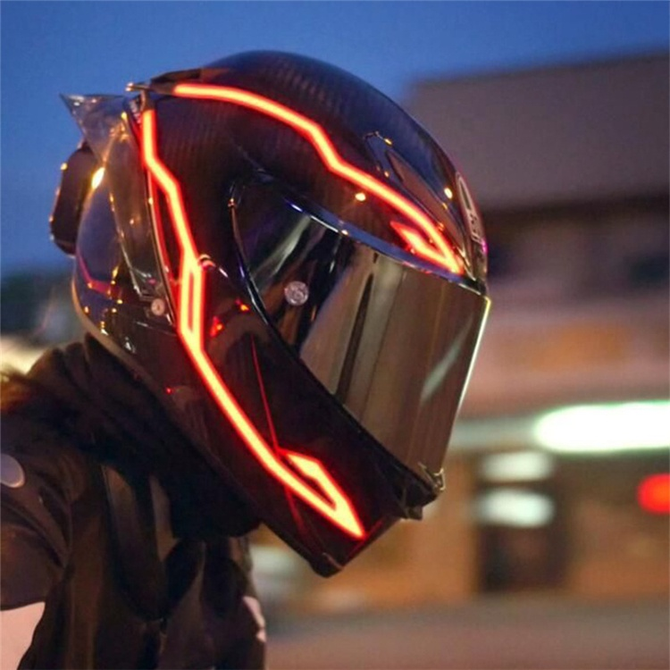 High Quality Luminous sticker Motor Helments LED Accessory Cool Decoration Motorcycle Helmet Ambient Light