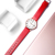 Fashion&Casual Quartz Watch Colorful Band Case Simple Style Watch for Women Men