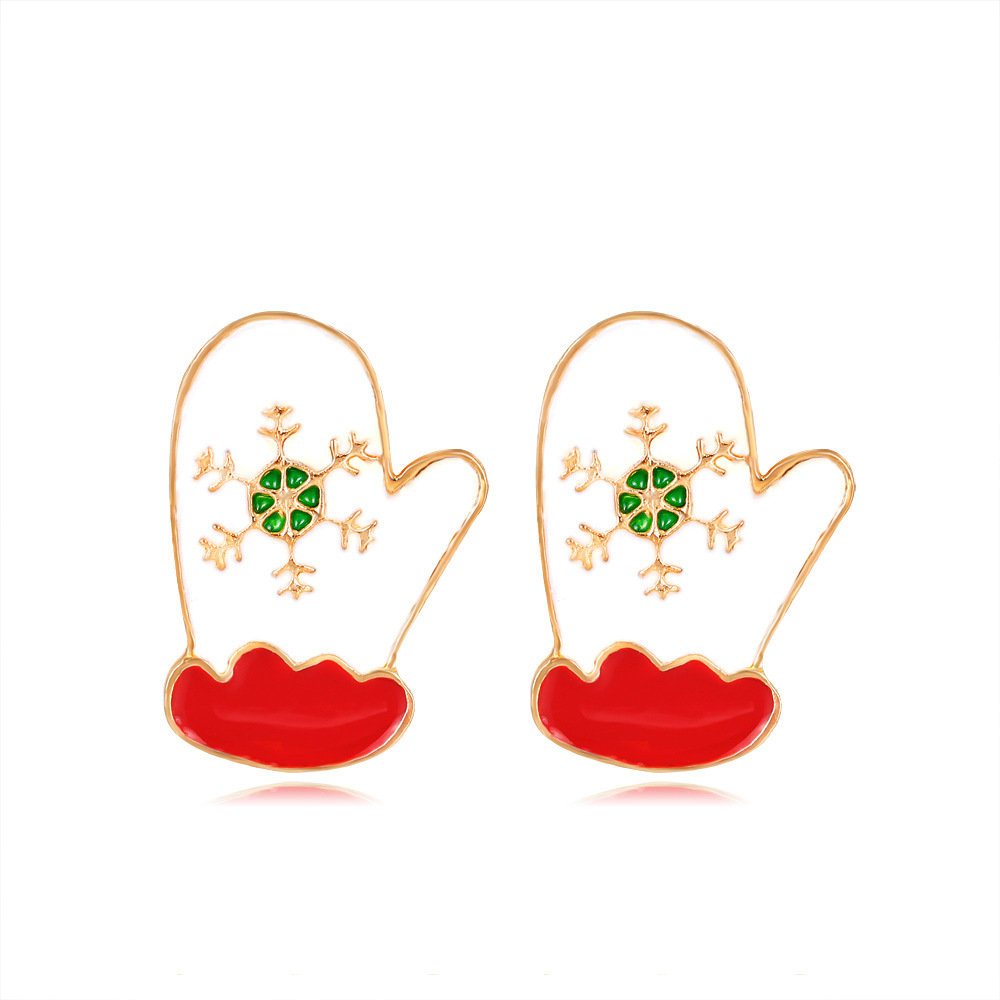 Factory wholesale Christmas gift Christmas series of gloves earrings gifts for women girls