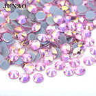SS 6 8 10 12 16 20 30 Iron On Transfer Strass Hot Fix Crystal Stone Flatback Hotfix Glass AB Rhinestones For Clothes