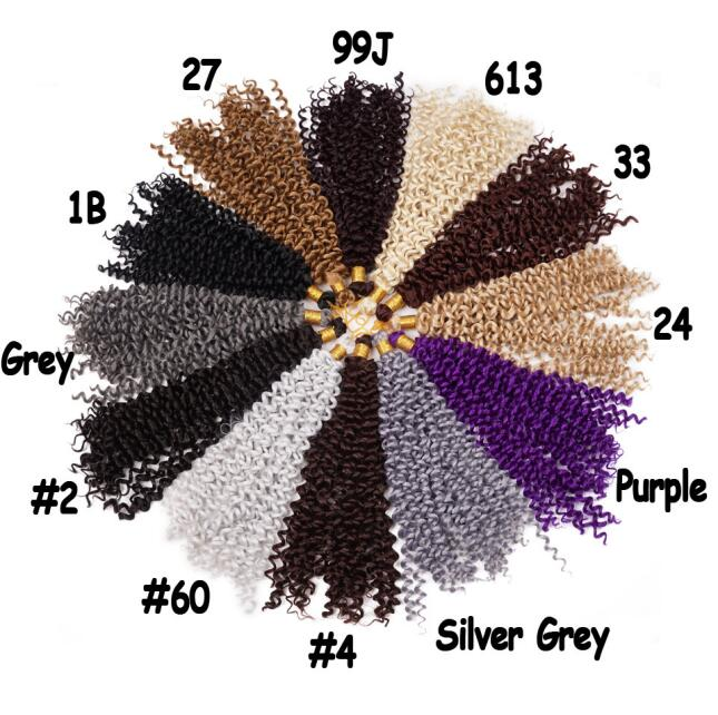 Synthetic Bulk Crochet Water Wave Braids Cheap Synthetic Hair Water Wave Weave