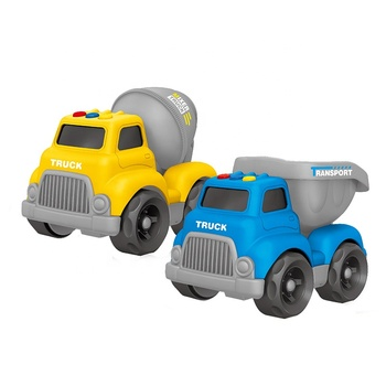 Promotional Plastic Car Vehicle Small Toy Car Cartoon Construction Truck For Gift Kids Toy