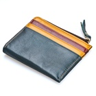 China Supplier factory price cow leather custom zipper coin purse