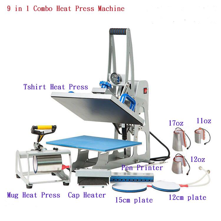 디지털 Transfer 8 in 1 열 Press Machine 서,