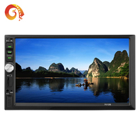 New product factory hot sales double din 7 inch resistance screen touch screen support MP3/MP4/MP5 car dvd player