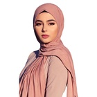 Logo Customization Stoles Hijab Stole Wholesale High-quality Muslim Woman Plain Stretchy Cotton Jersey Scarf Stoles Hijab