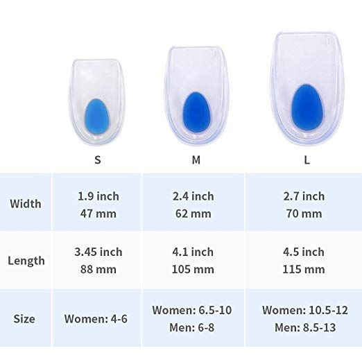 New Design 100% Pure Silicone Height Increase Heel Cushion Insole