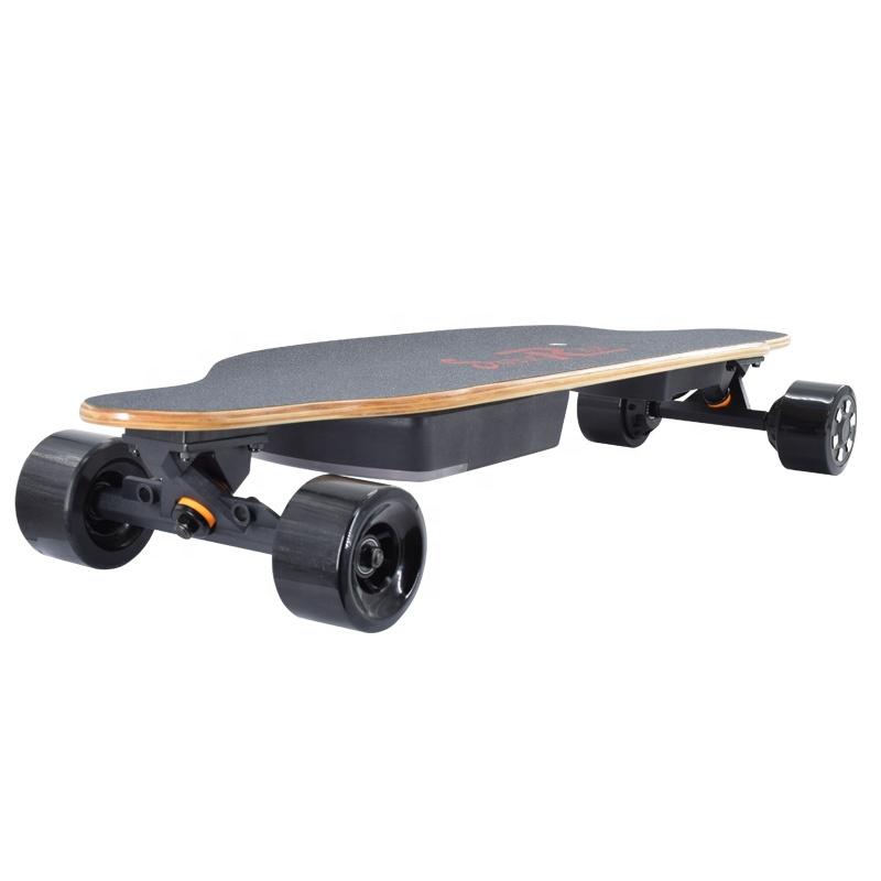 Melhor qualidade Black Panther 36V 6.6Ah 4 motores 1200W skate elétrico off road skate rodas de skate elétrico