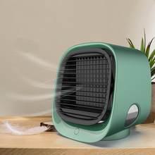 Кондиционер воздушный охладитель, увлажнитель портативный очиститель для дома, комнаты, офиса 3 скорости Настольный тихий охлаждающий вент...(Китай)