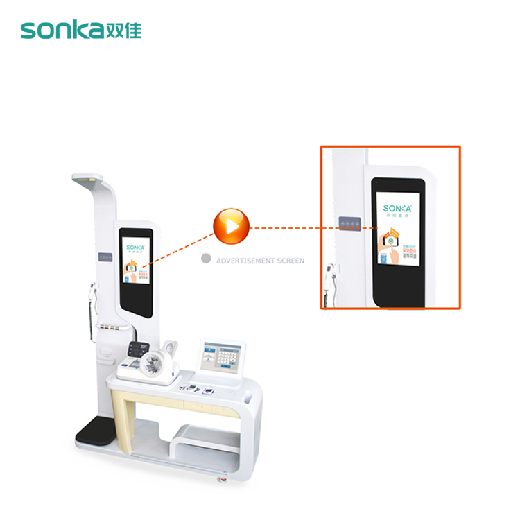 Multiple function hospital medical kiosk manufacturer patient self service health blood pressure kiosk