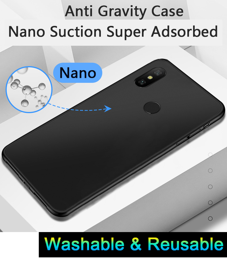 2020 new luxury nano suction phone case anti gravity PC TPU protective case for iPhone 11 12 pro max