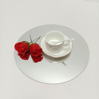 Eco-friendly coffee cup mat mirror gold Placemats for party weeding