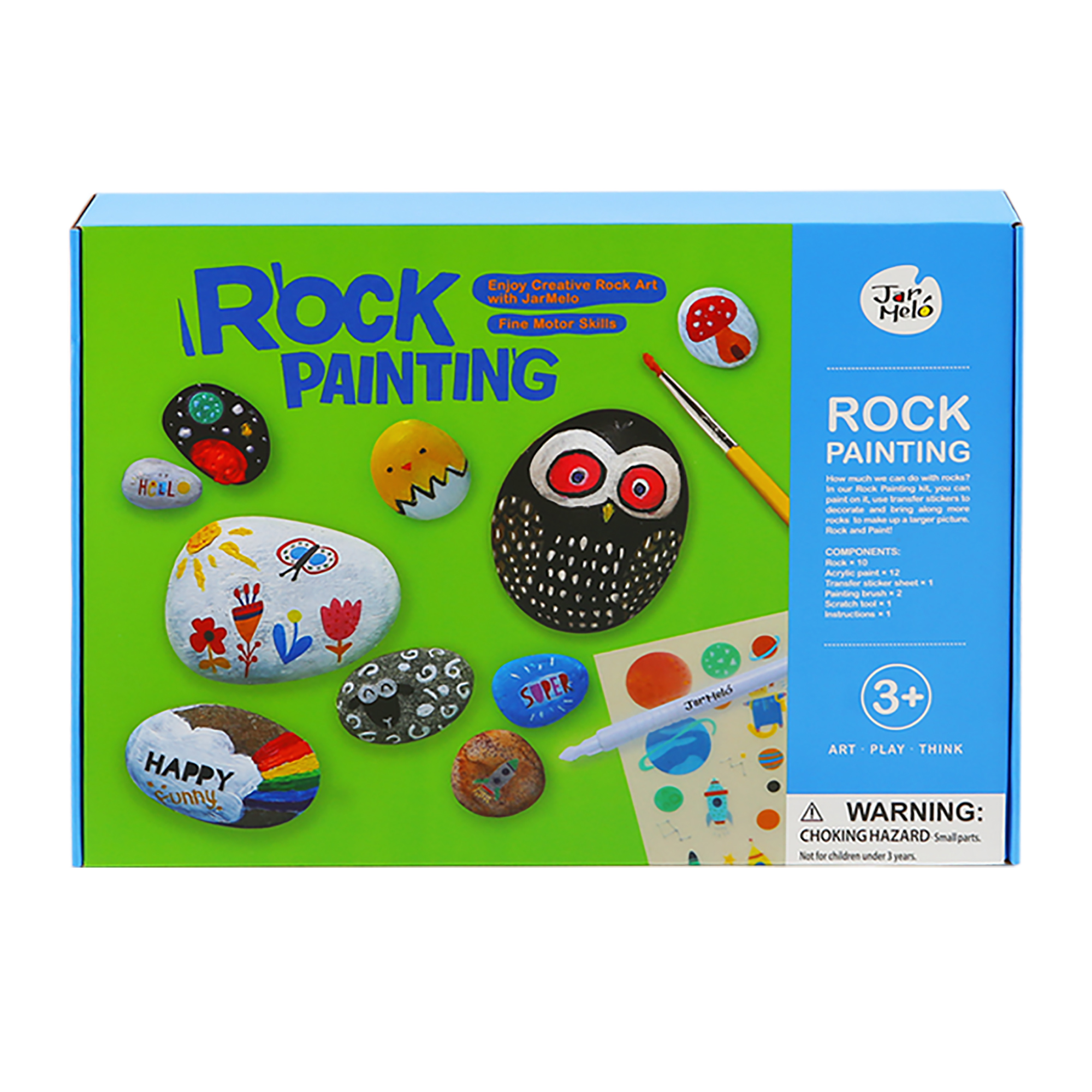 Non-Toxic magic stone children other toys arts and crafts rock painting kit for kids