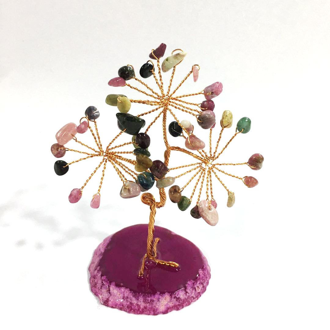 Wholesales Natural crystals healing stones hand made crystal christmas tree For Decoration
