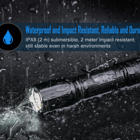 Torch Glass For Flashlights Torches Tactical Tactical Flashlight IPX8 Waterproof LED Torch TA30 With Window Glass Breaker For Military