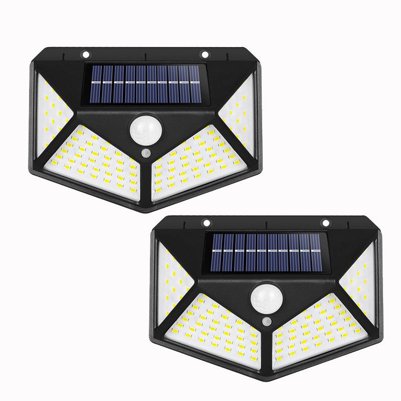 Amazon New Hot Waterproof 100 LED Solar Panel Power PIR Motion Sensor Solar Garden Lights Outdoor