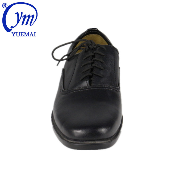Manufacturer Custom Security Genuine Cow Leather Rubber Outsole Wear Work Police Mens Army Military Business Casual Office Shoes