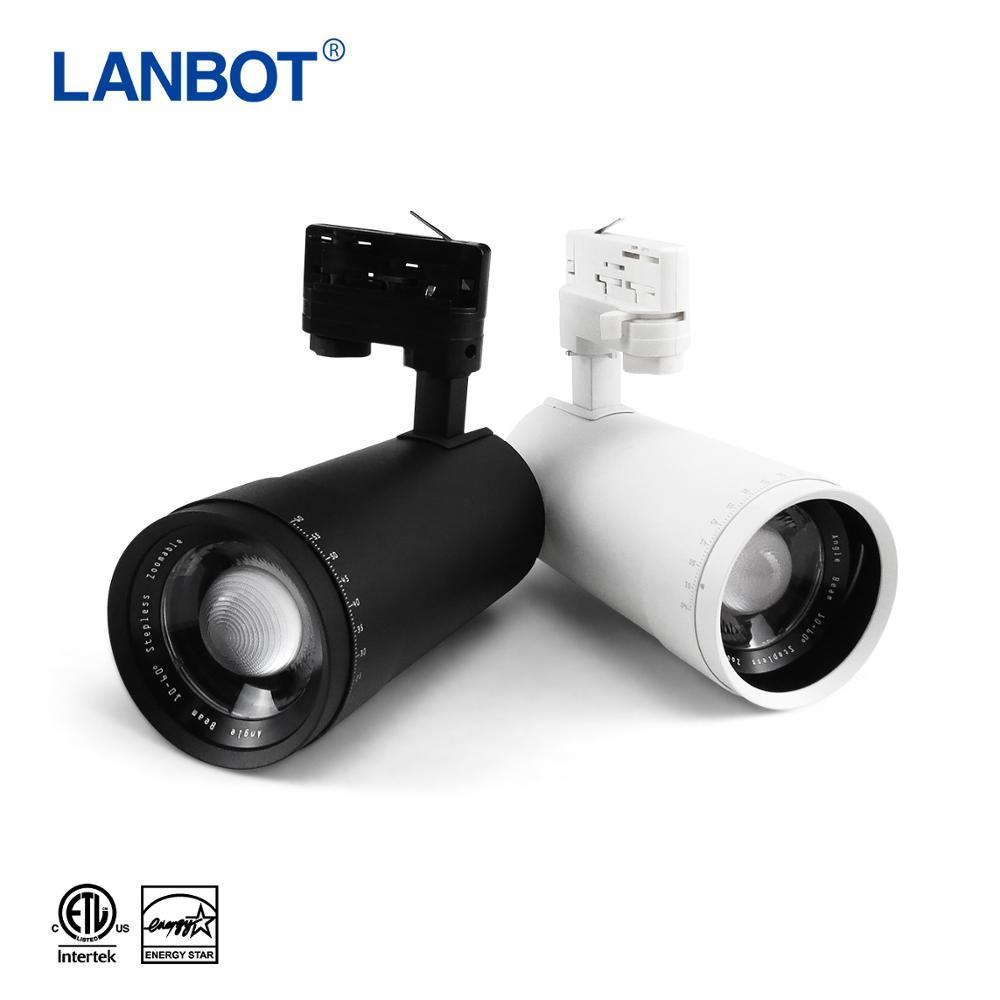 Factory promotion Zoomable 85-265V Led Black Track Rail Lighting Cob Spotlights Adjustable Focus Industrial Lamp lights
