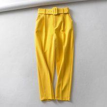 Офисные английские женские штаны с высокой талией-шаровары с поясом pantalones mujer pantalon femme брюки для женщин размера плюс(Китай)