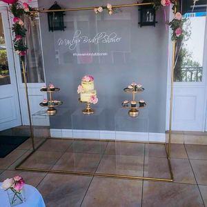 A&C Wedding Decoration Acrylic Round Wedding Pedestal Columns Silver Gold Display Plinth For Event