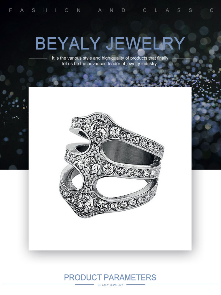 product-BEYALY-Party Adornment Three Layered Cz Jewelry Silver 925 In Rings-img