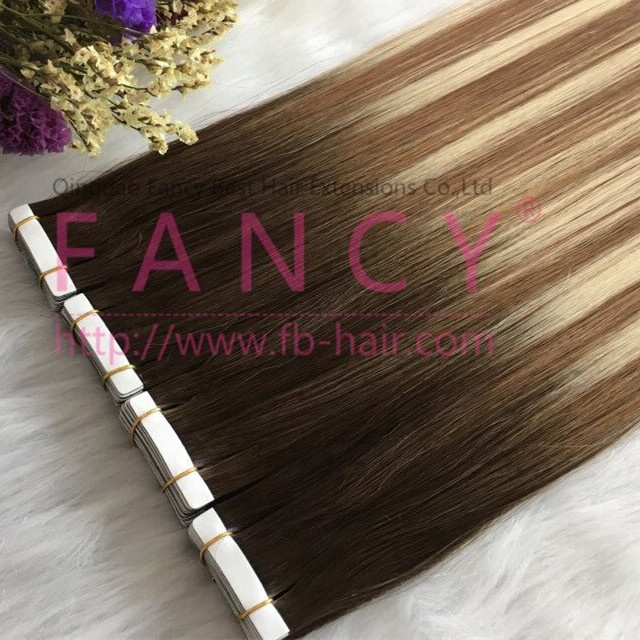 FB Hair 100 European Best Quality Double Drawn Russian Remy Hair Cuticle Aligned Tape Weft Human Hair Extension